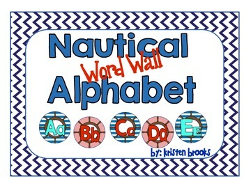 Nautical Word Wall Alphabet