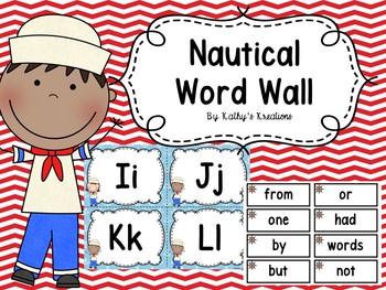 Nautical Word Wall Editable
