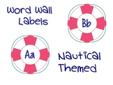 Nautical Word Wall Letter Cards