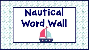 Nautical Word Wall: Navy, Teal, Pink