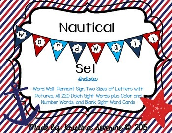 Nautical Word Wall Set