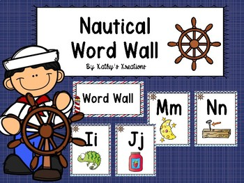 Nautical Word Wall With Pictures #1