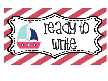 Nautical Writing Process
