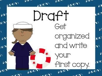 Nautical Writing Process posters