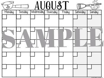 Nautical Yearly Calendar