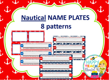 Nautical alphabet posters and desk name plates
