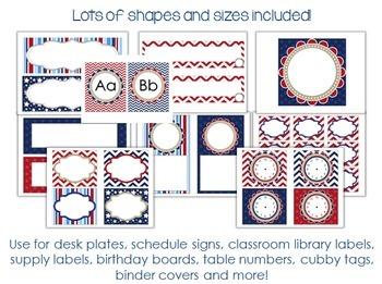 Nautical and Sailing Theme Classroom Decor Set and Labels EDITABLE {Kidsrcute}