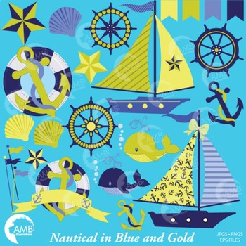 Nautical Clipart, Beach Clipart, Sailing Clipart, {Best Teacher Tools} AMB-518