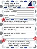 Nautical beginning of the year parent survey