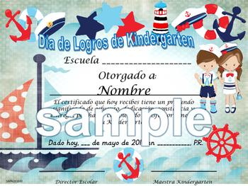 Nautical boat Background Achievement award certificate Eng