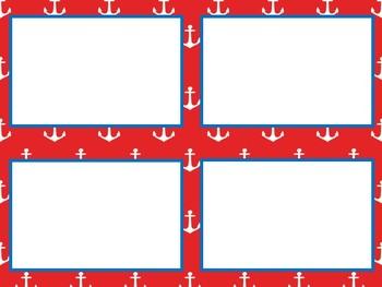 Nautical class decor desk name plates