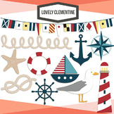 Nautical clip art,  nautical vector images - Lovely Clementine