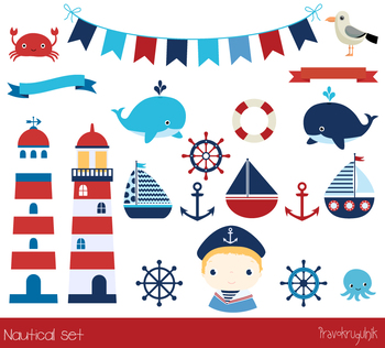 Nautical clip art, Sailing clipart, Sailboats, Lighthouse, Anchor, Sailor boy