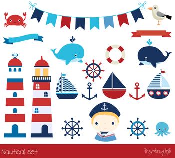 nautical clip art sailing clipart sailboats lighthouse anchor rh teacherspayteachers com nautical clip art images nautical clip art images