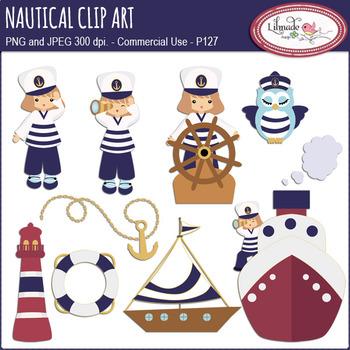 Nautical clipart, sailing clipart, summer clipart
