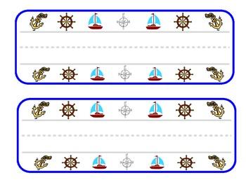 Nautical desk name plates