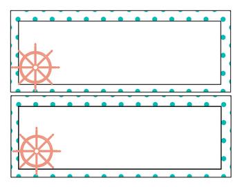 Nautical desk tags