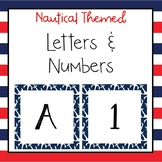 Nautical letters and numbers for bulletin board, calendars, & class management