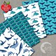 Nautical Digital Papers, Whales Papers and Backgrounds AMB-399
