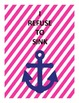 Nautical pink and navy quotes FREEBIE