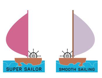 Nautical sailor behavior chart