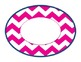 Nautical themed Navy, Pink and Green chevron large labels