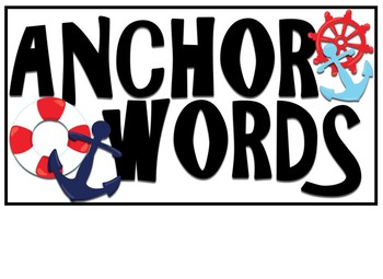 Nautical themed Word Wall headers - labels