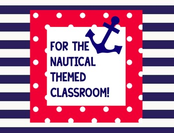 Nautical Classroom Theme