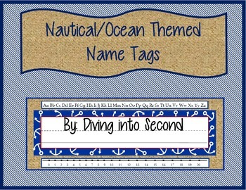 Nautical/Ocean Themed Name Tags