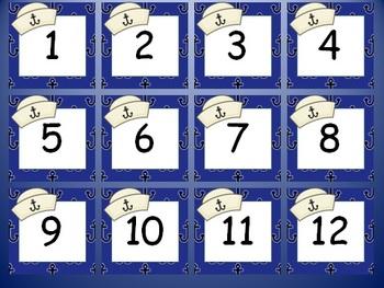 Nautical/Sailing Calendar Numbers