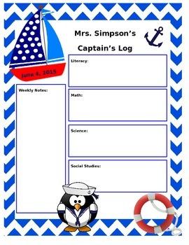 Nautical/Sailor Themed Newsletter Template