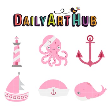 Nauticalist Clip Art - Great for Art Class Projects!