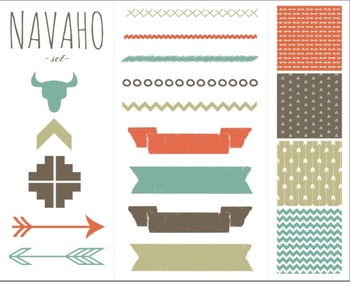 Navaho Set { Digital Papers and Clip Art }