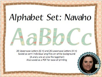 Navajo Theme Printable Alphabeto