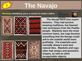 Navajo 22-slide PPT 10 facts, key words, graphic organizer, video links and more