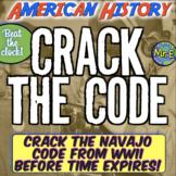 Navajo Code Escape Room: American History Escape Room to Crack the Navajo Code!