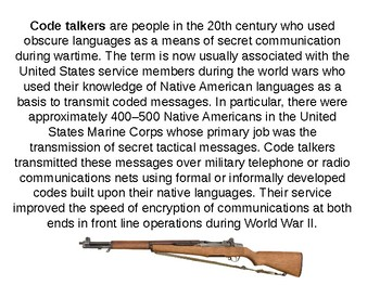 Navajo Code Talkers Informative Guide