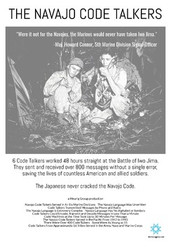 Navajo Code Talkers Mini Poster (Printer Friendly)