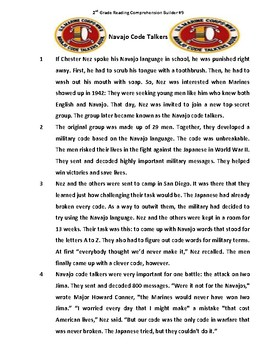 Navajo Code Talkers Reading Comprehension by TASK CARDS KING | TpT