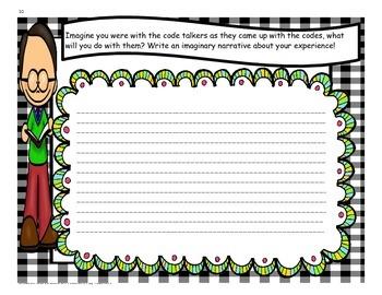 Navajo Code Talkers - 4th Grade - Tri folds + Activities