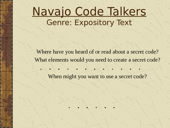 Navajo Code Talkers Vocabulary Power Point Reading Street 2011