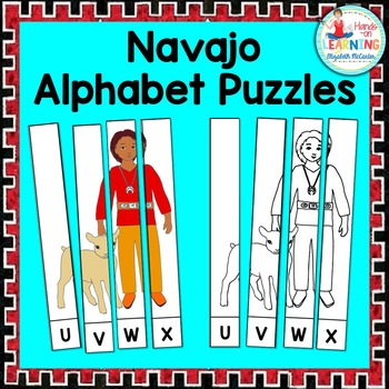 Navajo Friends Alphabet Puzzle - A Native American Literacy Center
