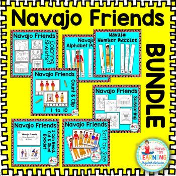 Navajo Friends Bundle - A Pre-K/K Math and Literacy Bundle
