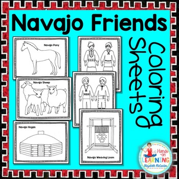 Navajo Friends Coloring Sheets - A Native American Literacy Center