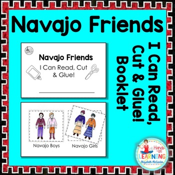 Navajo Friends Read, Cut and Glue Booklet - A Native American Literacy Center
