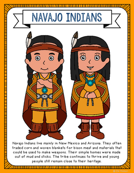 Plains Indians Coloring Page Craft and Poster, Native American Tribes | 350x271