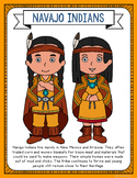 Navajo Indians Coloring Page Craft and Poster, Native Amer