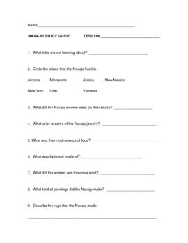 Navajo Study Guide