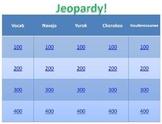 Navajo, Yurok, Cherokee & Haudenosaunee Jeopardy Game