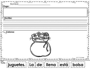 Scrambled  Sentences  in Spanish : Christmas